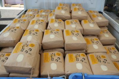 アイガモ(合鴨)農法収穫祭in千葉県長生村2017秋画像