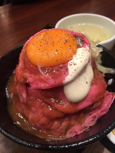 秋葉原のローストビーフ丼