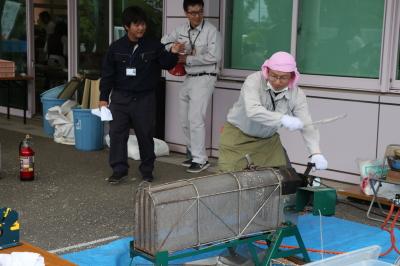 アイガモ(合鴨)農法放鳥式in千葉県長生村2018春ポン菓子画像