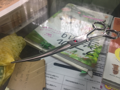 トリミングハサミの研ぎ画像